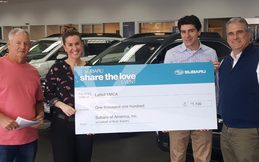 "Roto Subaru ""Shares the Love"" with Lattof YMCA"