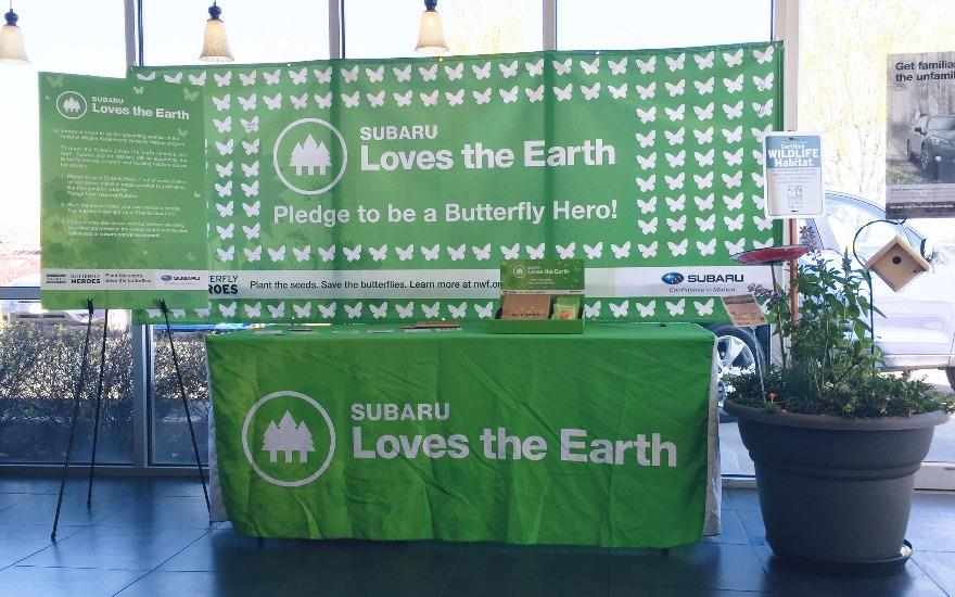 Larry Miller Subaru Loves the Earth & Butterflies
