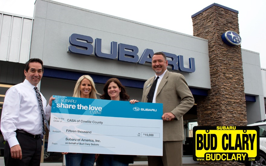 Bud Clary Subaru Shares the Love with CASA