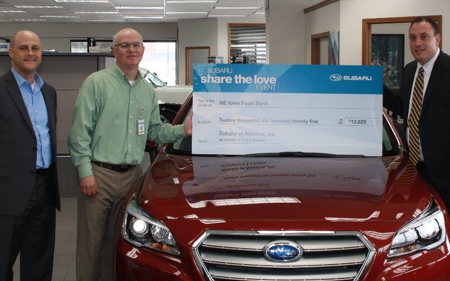 C & S Subaru Supports Local Food Bank