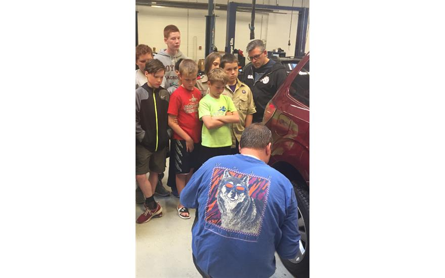 Boy Scouts Earn Their Automotive Merit Badges