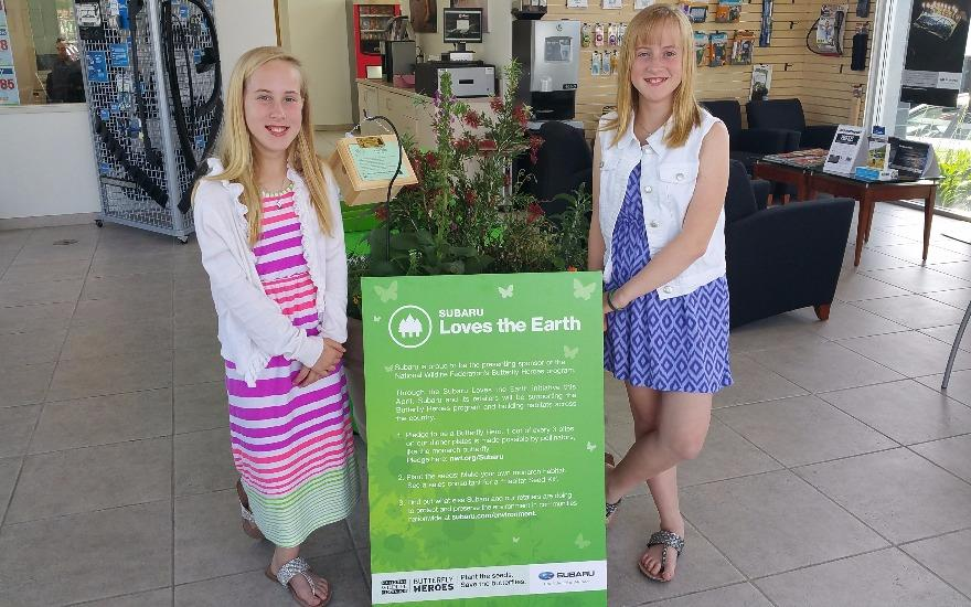Girls help save the monarch butterfly