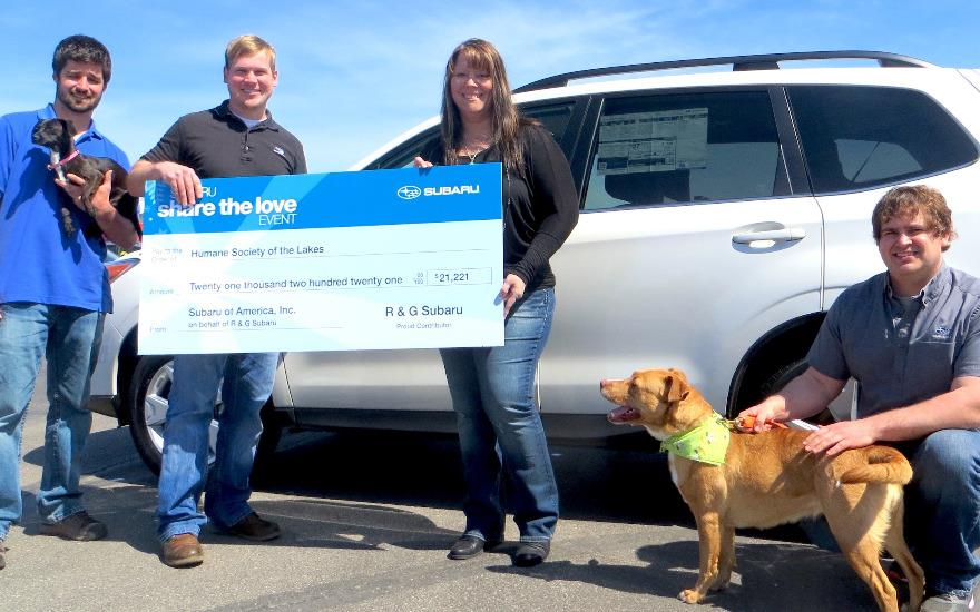 Sharing a Love for animals at R&G Subaru