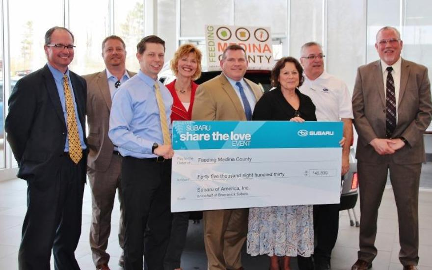 2015 Share the Love check presentation