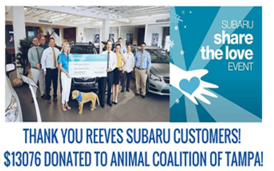 Reves Subaru & their customers give back to ACT