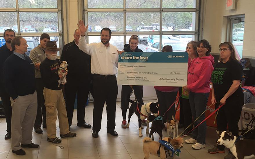 Mostly Muttz Rescue Receives Share The Love Check