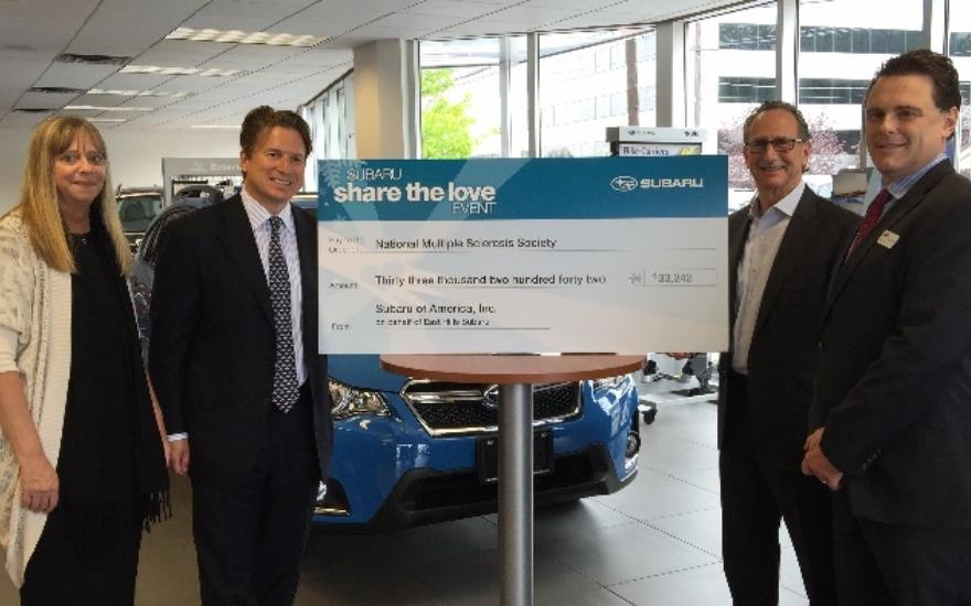 East Hills Subaru Donates $33,242 to MS Society