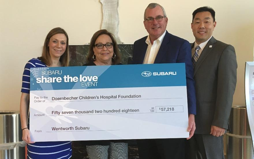 A Big Check for Doernbecher Children's Hospital