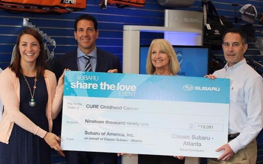Classic Subaru helps CURE Childhood Cancer