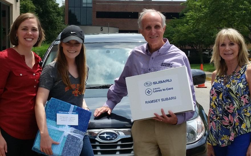 Subaru and LLS Loves to Care Program for Hannah