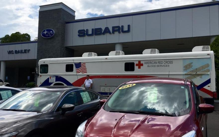 Subaru Loves to Care Blood Drive
