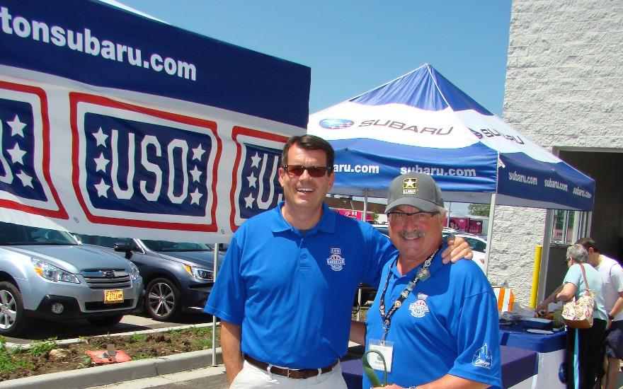 BBQ for the Troops w/USO at Evanston Subaru