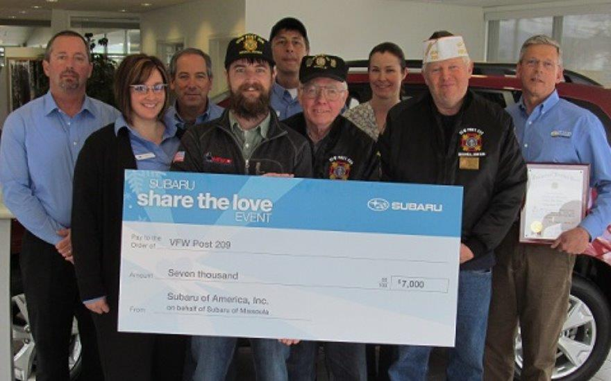 VFW Wins Big with the Help of Subaru of Missoula