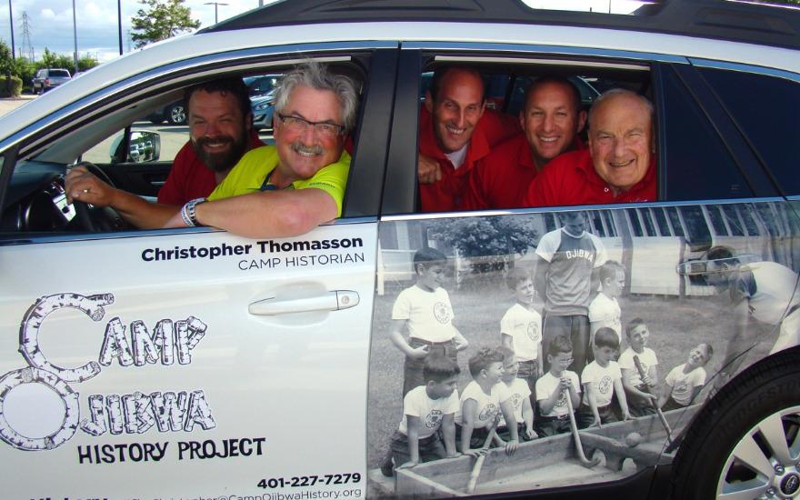 Wrapped Subaru Outback promotes Boys' Summer Camp