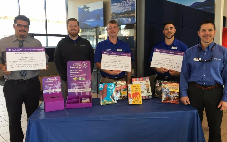 Subaru Loves Learning Book Donation Event
