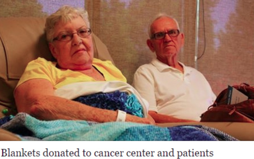Blankets donated to cancer center and patients