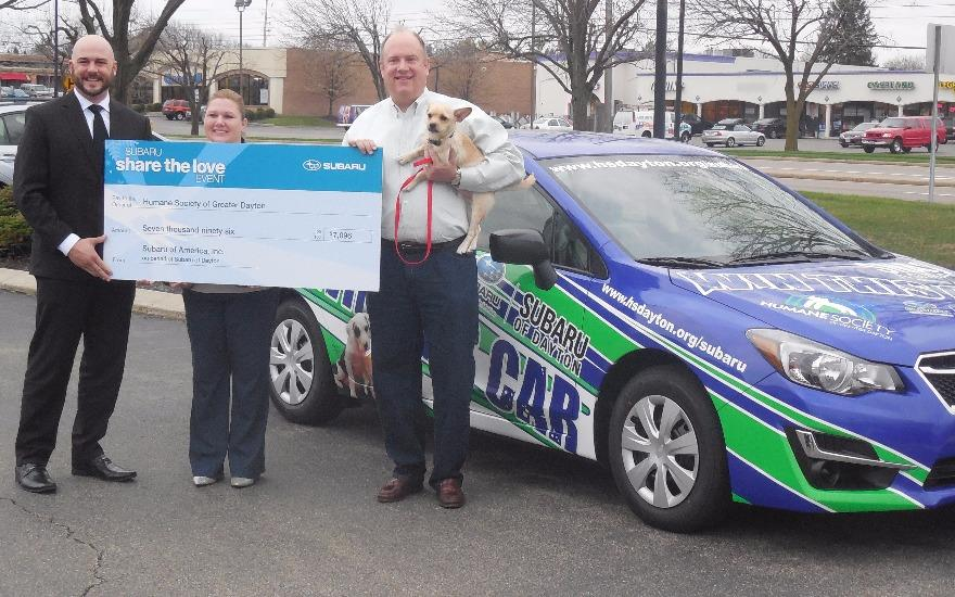 Subaru of Dayton Shares the Love with Pets in Need