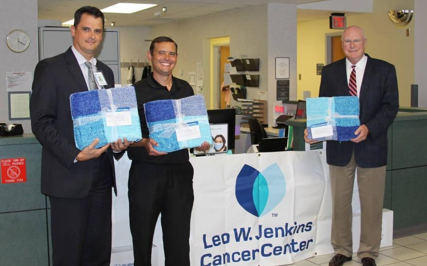 Leo W. Jackson Cancer Center Blanket Donation