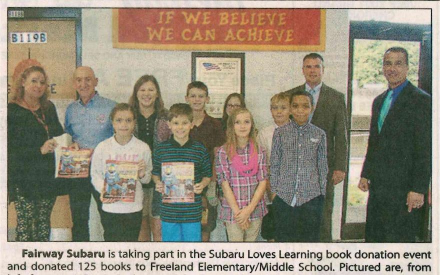 Fairway Subaru Loves Learning