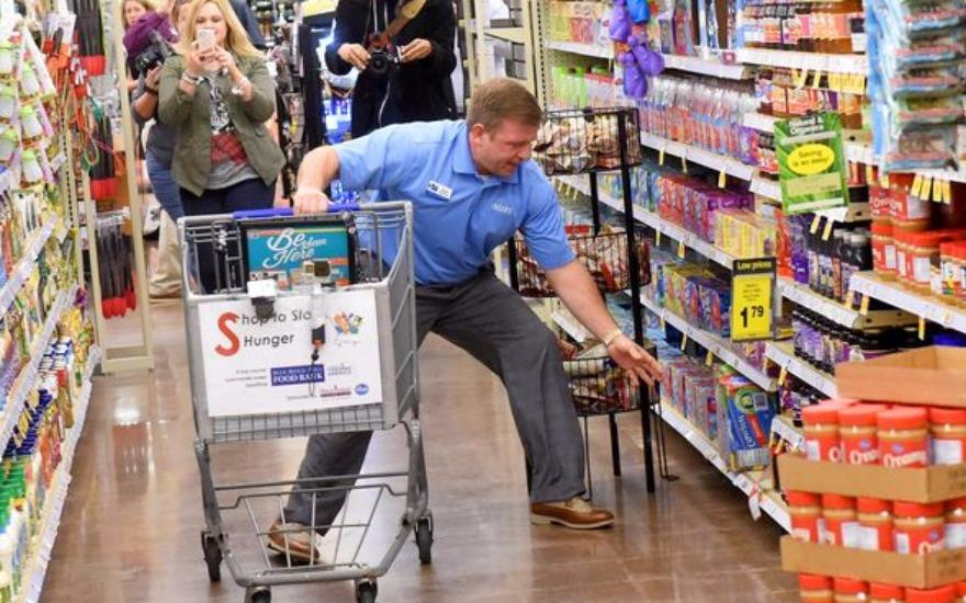 Solving Hunger- one supermarket sweep at a time!
