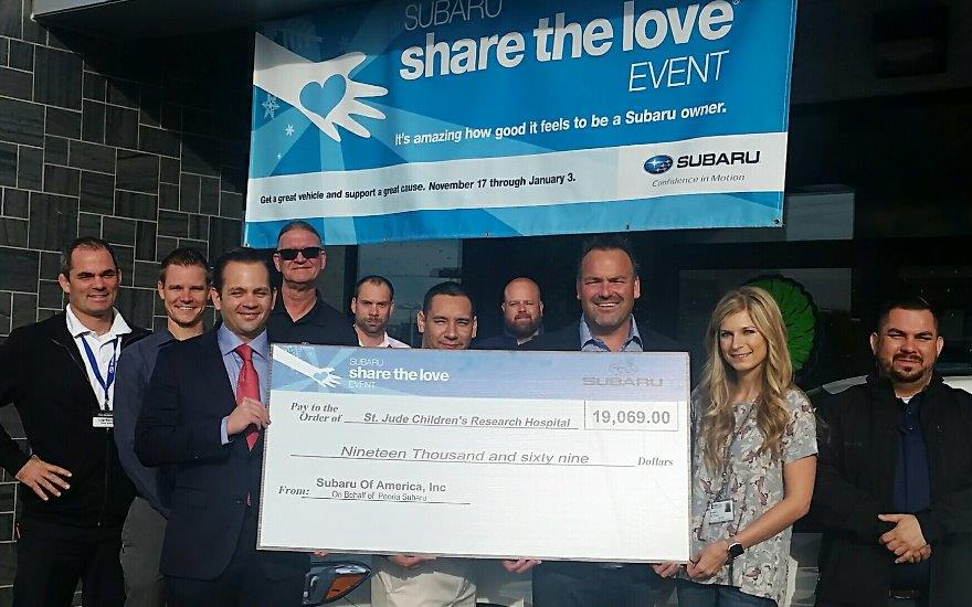 Peoria Subaru Shares The Love