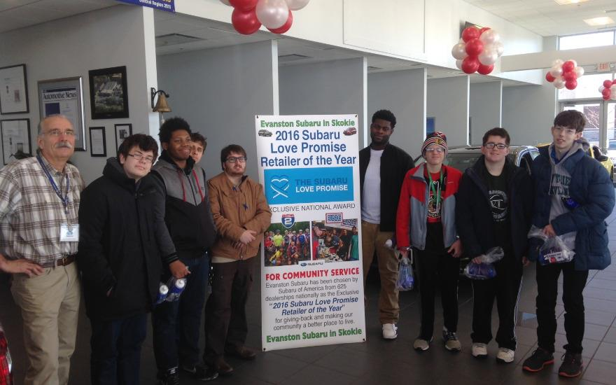 Career Day at Evanston Subaru with the Cove School