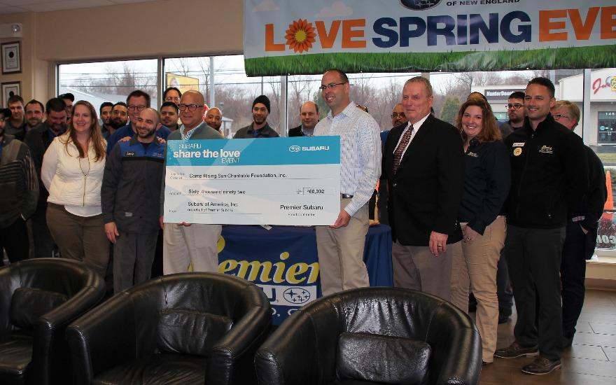 Premier Subaru Gives Over $60K to Camp