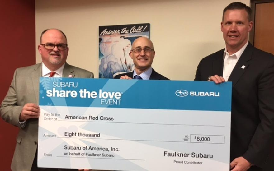 Faulkner Subaru Partners with the Red Cross