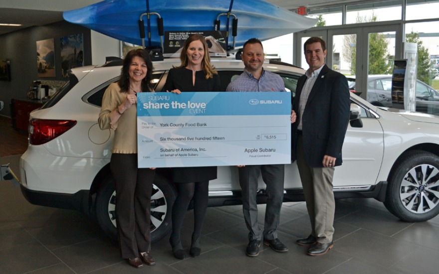 Subaru Joins Quest for a Hunger Free York