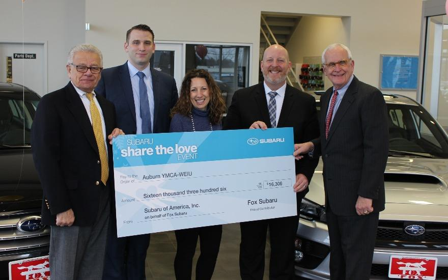 Fox Subaru & SOA donates $16,306 to Auburn YMCA