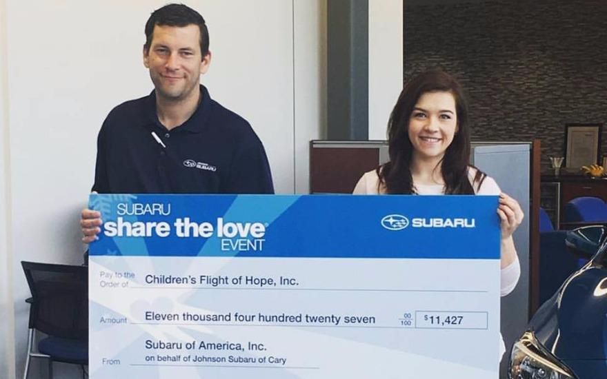 Johnson Subaru of Cary Gives the Gift of Hope