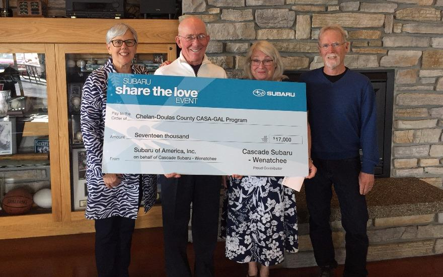 Subaru Shares the Love with Chelan-Douglas CASA!