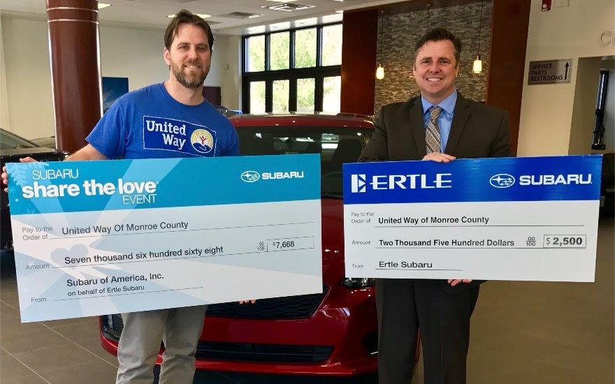 Ertle Subaru's Community Commitment to United Way