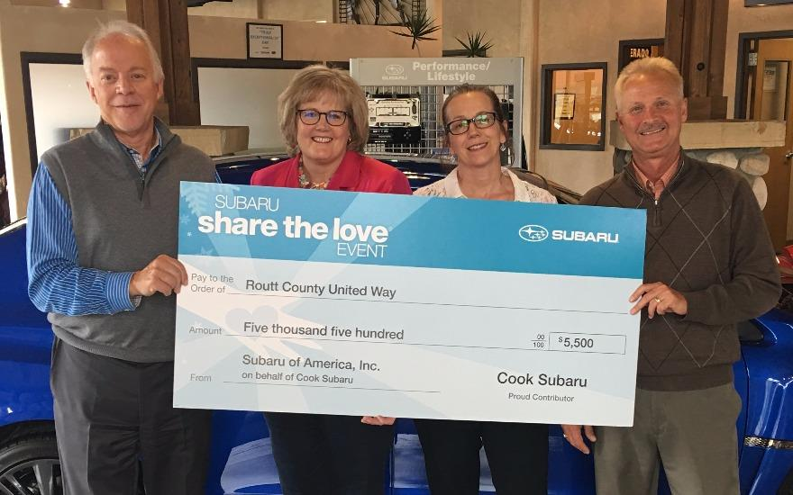 Thank You Cook Subaru for Sharing the Love