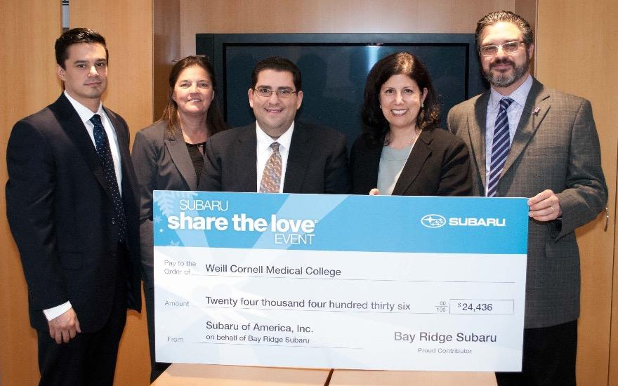 WeillCornell Breast  Center loves Bay Ridge Subaru