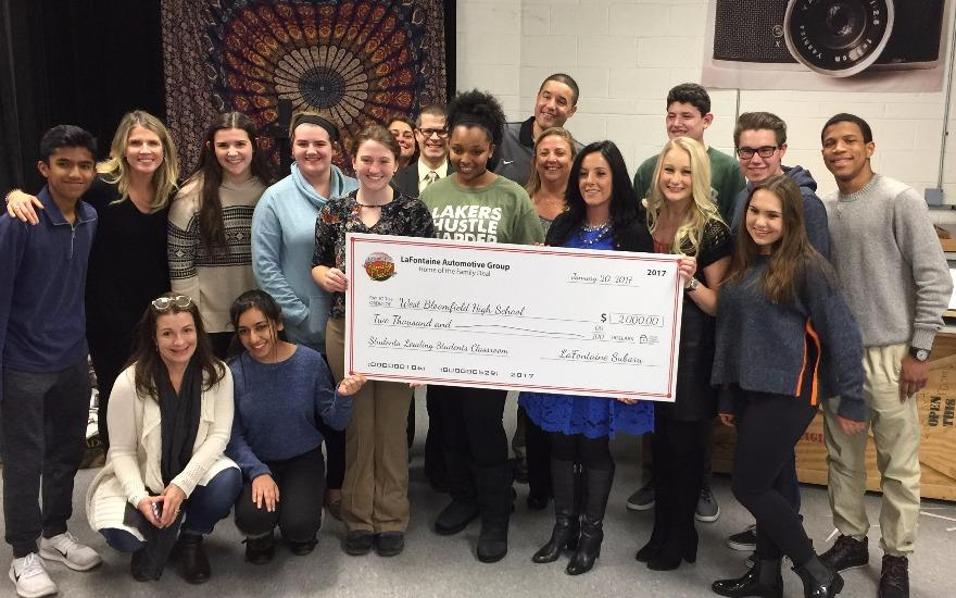 West Bloomfield High School thanks LaFontaine