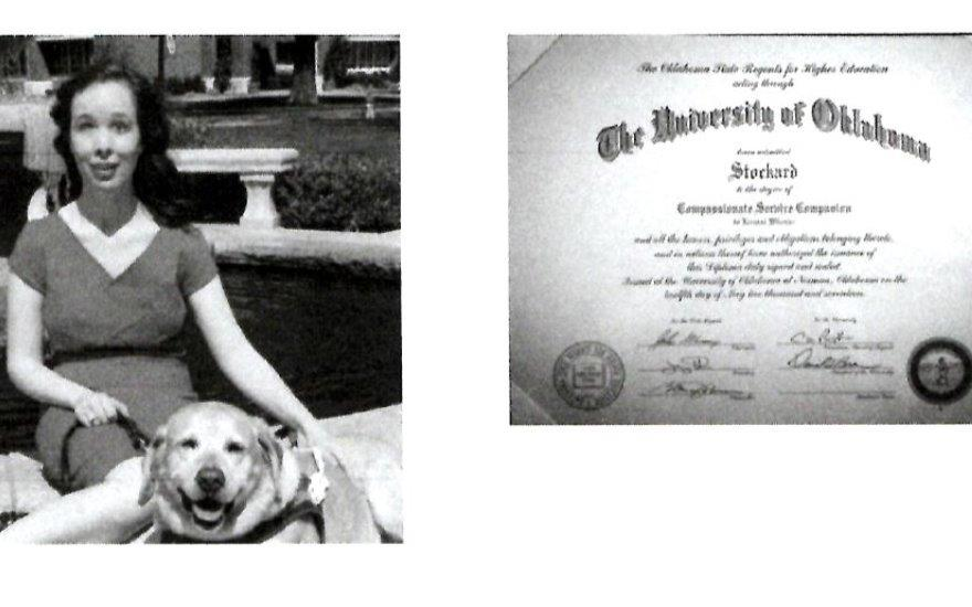 OU Graduates with her Guide Dog thanks to Ferguson