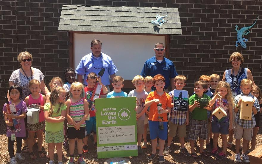 Subaru and Chestatee Elementary Love the Earth