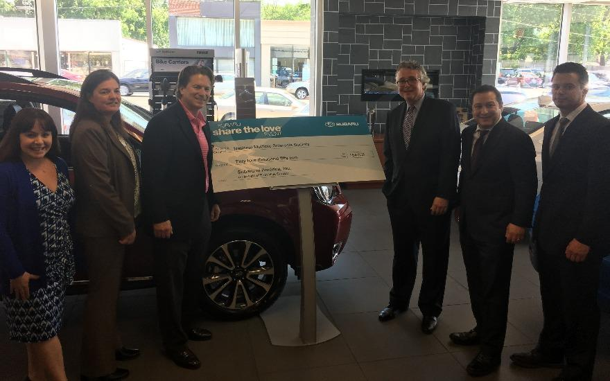 East Hills Subaru Donates $54,052 to MS Society