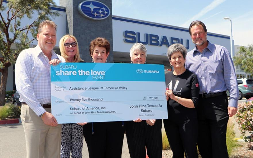 Share the Love Check Presentation -
