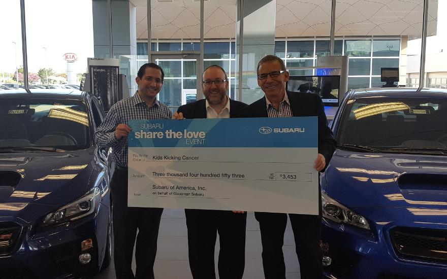 Glassman Subaru Share the Love-Kids Kicking Cancer