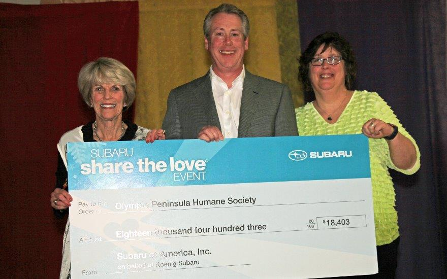 Koenig Subaru Contributes to the Humane Society