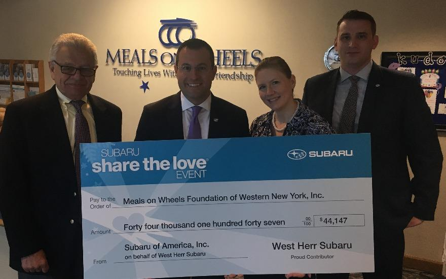 Meals on Wheels for WNY Thanks West Herr Subaru