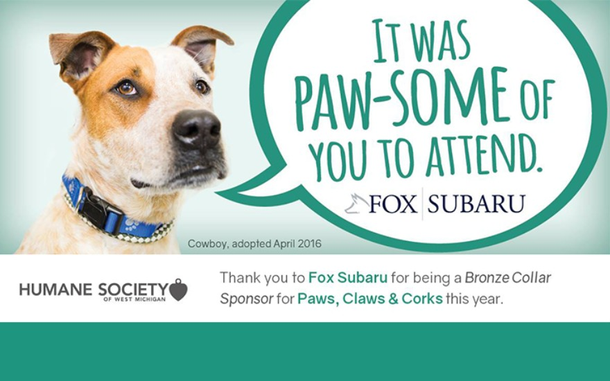 Humane Society of West Michigan #SubaruLovesPets