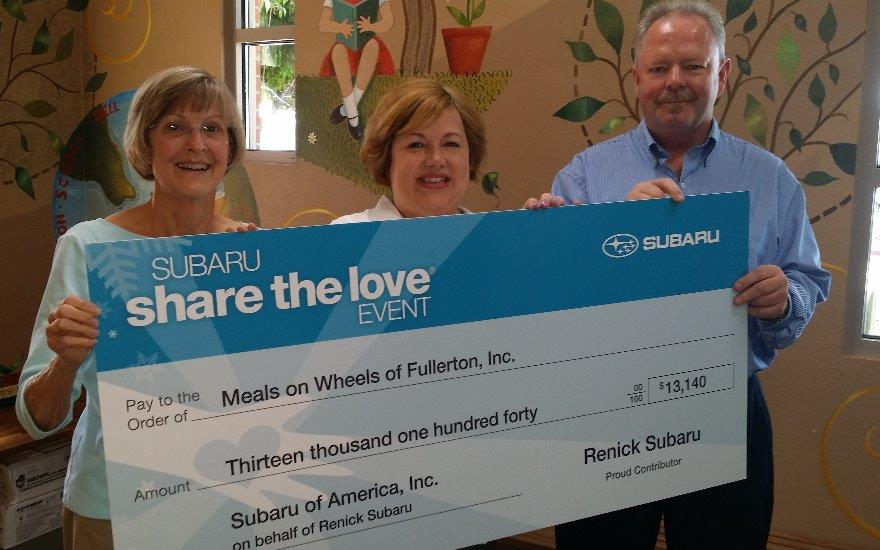 Renick Subaru and the Fullerton Meals on Wheels