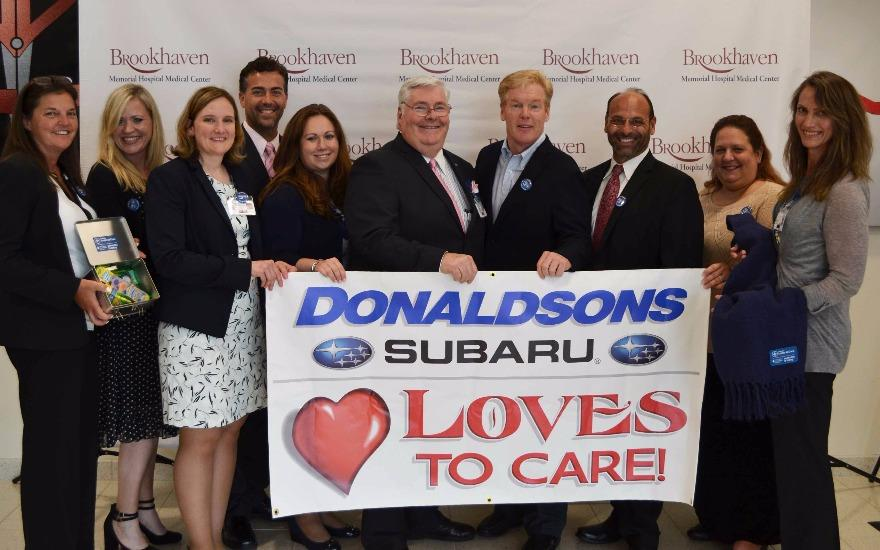 Donaldsons Subaru loves to care!