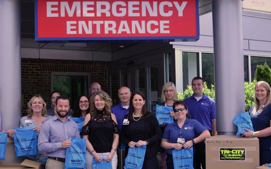 Care Bags for Frisbee Memorial Hospital
