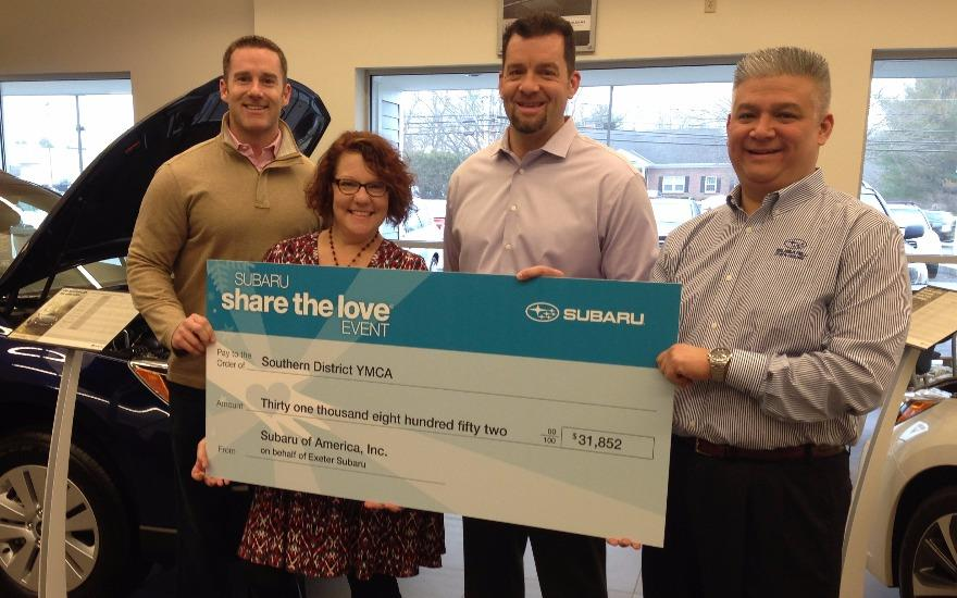 Exeter Area YMCA Selected for Share the Love