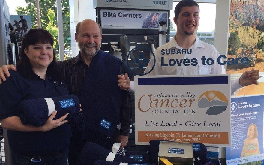 Jim Doran Subaru Cares about Cancer Patients