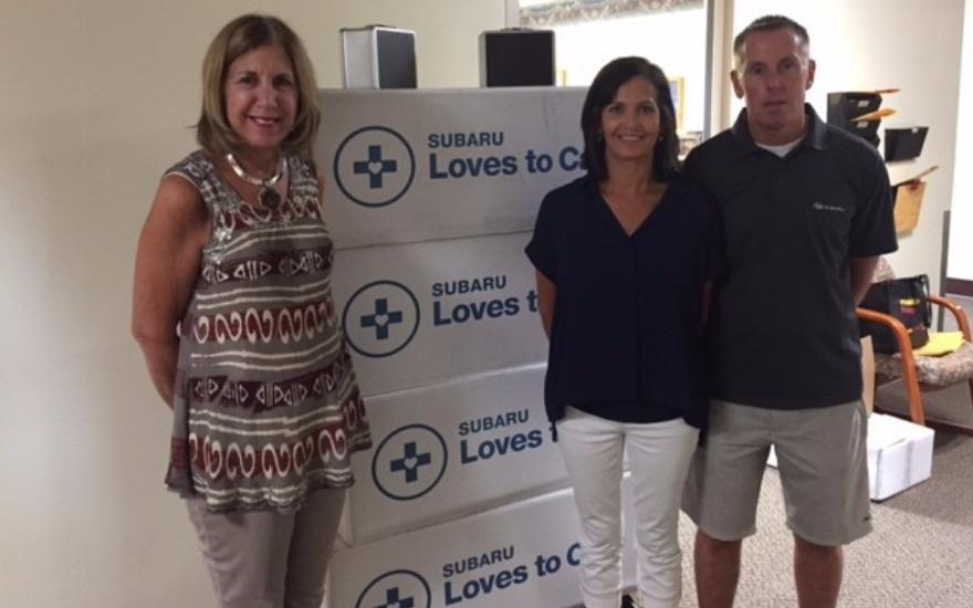 Lawrence Subaru Shares the Love to Cancer Patients